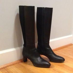 Aquatalia Dena Waterproof Black Leather Boots Sz 9